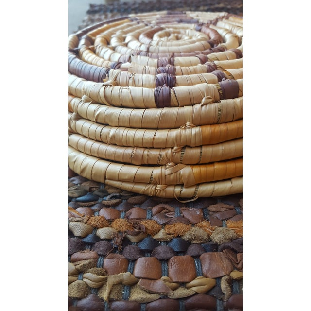 Native American Style Hand Woven Basket - Image 4 of 5