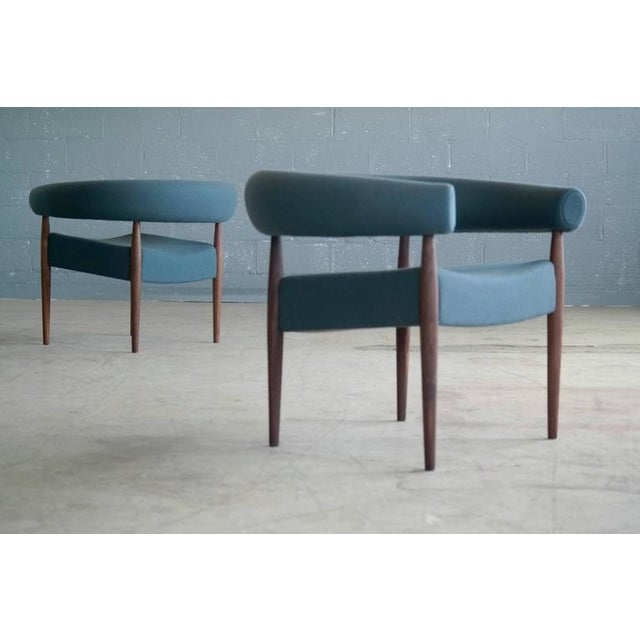 Nanna Ditzel for Getama Ring Chairs in Walnut and Wool - a Pair For Sale - Image 12 of 12