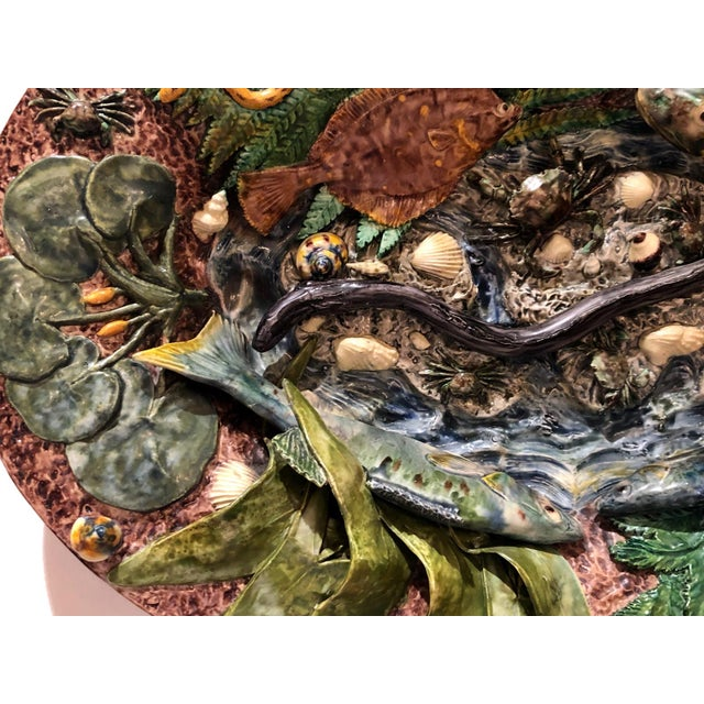 Large Palissy Platter, France Circa 1880 For Sale In San Francisco - Image 6 of 9