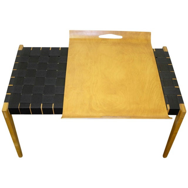 Abel Sorenson Tray Table and Bench For Sale