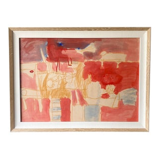 Contemporary Nancy Lee Abstract on Paper For Sale