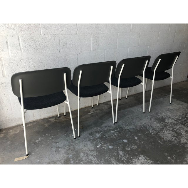 Mid-Century Modern Preowned Hay Iskos-Berlin's Soft Edge Stackable Chairs -Set of Four For Sale - Image 3 of 13