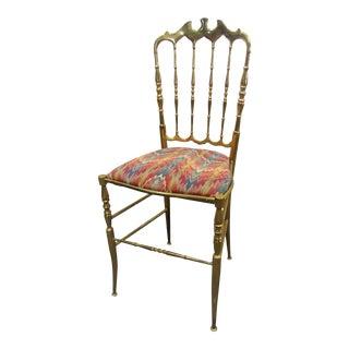 Chiavari Italian Brass Side Chair For Sale