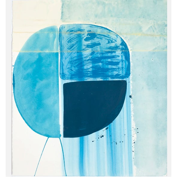 """2010s Ky Anderson """"Blue Shield 18.7"""" Painting, 2018 For Sale - Image 5 of 5"""