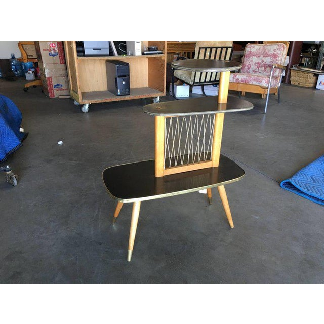 1950s Three-Tier Midcentury String Art Center Side Tables - Set of 3 For Sale In Los Angeles - Image 6 of 11