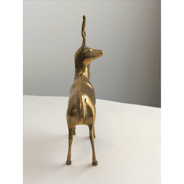 Brass Stag Statue - Image 6 of 7