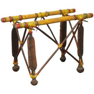 African Tribal Tuareg Camel Saddle Stand Side Table