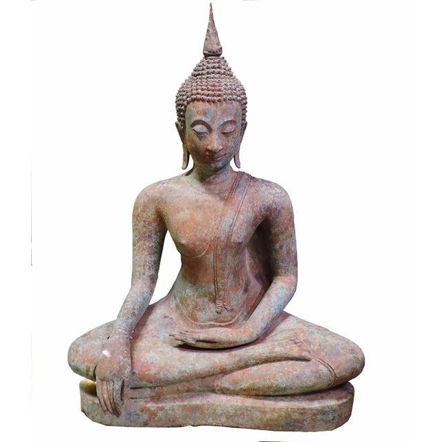 Bronze Cast Bronze Sukhothai Buddha For Sale - Image 7 of 7