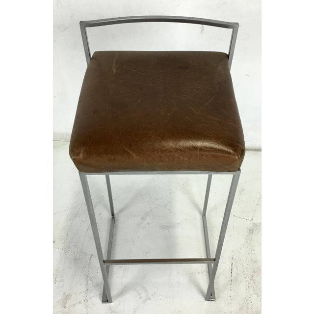 Set of Four Minimalist Modern Bar Stools by Enzo Berti for LaPalma, Italy For Sale - Image 5 of 5