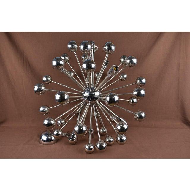 Metal 1960s Vintage Sputnik Chrome Chandelier For Sale - Image 7 of 7