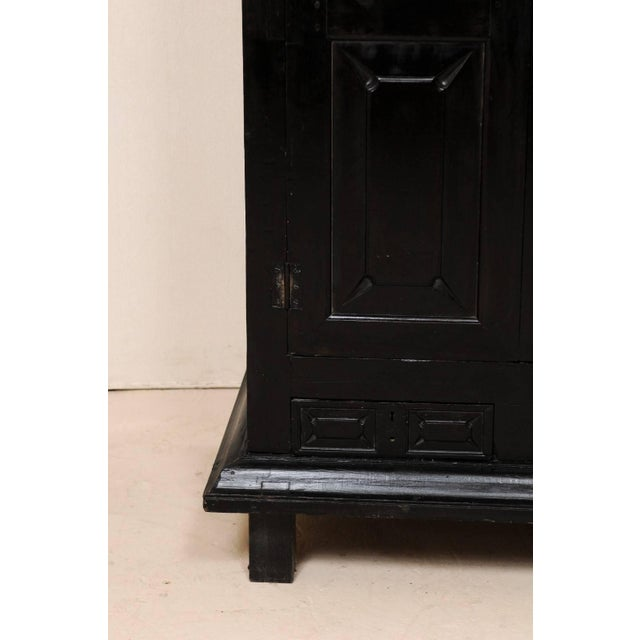 Large British Colonial Cabinet From the Mid-20th Century of Dark Ebonized Wood For Sale In Atlanta - Image 6 of 12