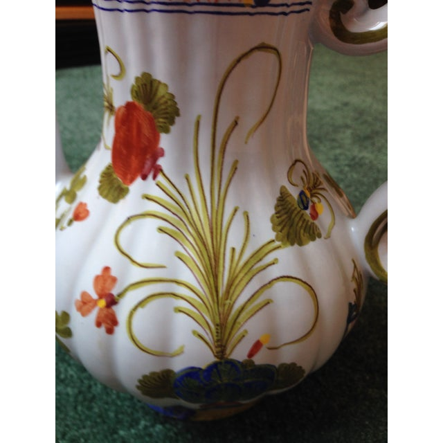 """Italian """"Blue Carnation"""" Coffee Pot For Sale - Image 9 of 10"""