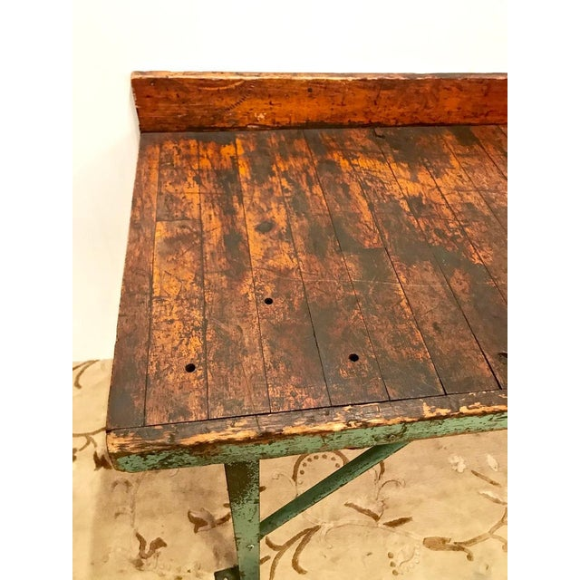 Metal 20th Century Industrial Workbench or Console For Sale - Image 7 of 12