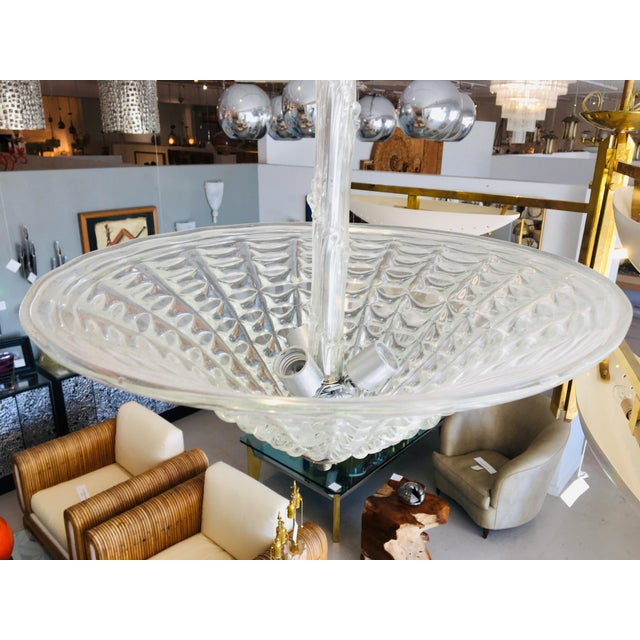 1960s 1960s Vintage Murano Glass Chandelier by Ercole Barovier For Sale - Image 5 of 12