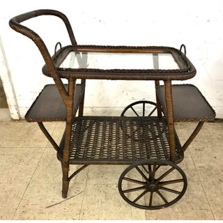 Wicker Tea Bar Cart Trolley Preview