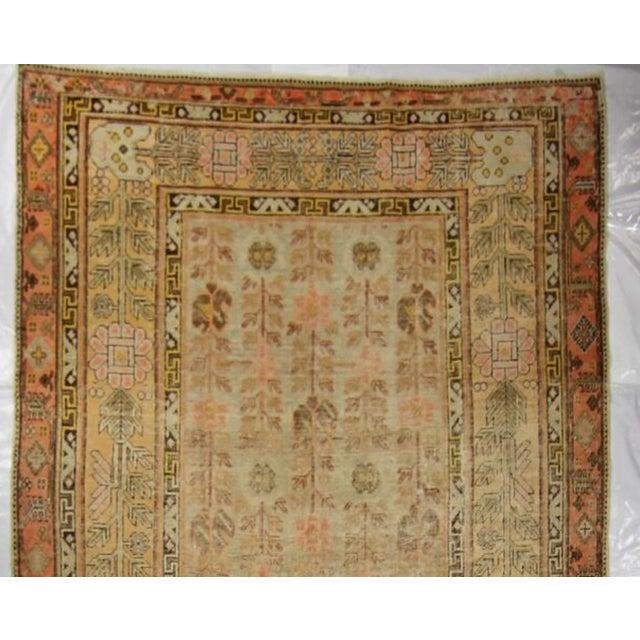 Asian Antique East Turkistan Samarkand Rug - 5′1″ × 12′6″ For Sale - Image 3 of 5