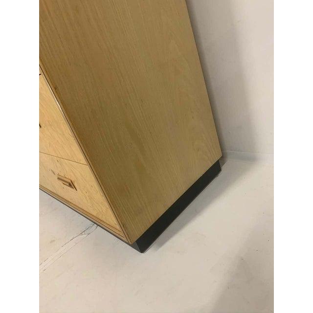 Wood Henredon Olive Burl Burled Wood and Macassar Dresser Cabinet Shelving Wardrobe For Sale - Image 7 of 9