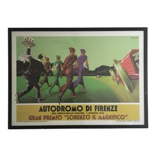 Italian Poster Reprint of 1934 Auto Race
