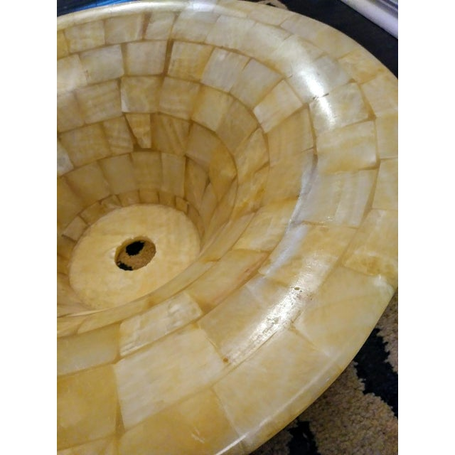 Tessellated Natural Stone Vessel Above Vanity Sink For Sale In West Palm - Image 6 of 8