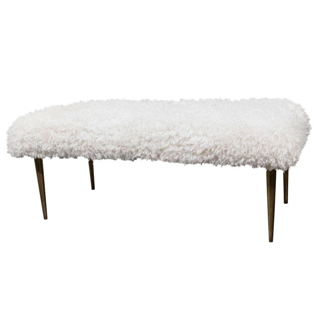 French Faux Fur Bench For Sale In New York - Image 6 of 6