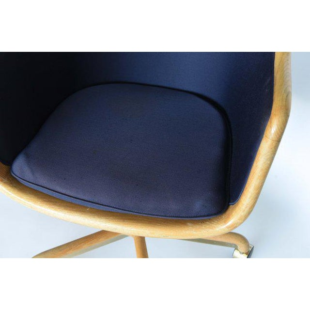 Wood 1970's Pair of Desk Chairs by Ward Bennett for Brickel Associates For Sale - Image 7 of 11