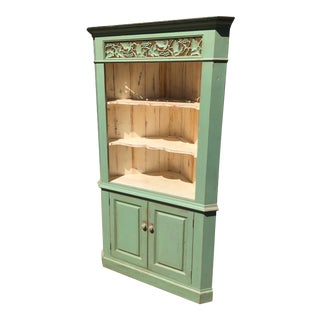 Green Reclaimed Farmhouse Hutch