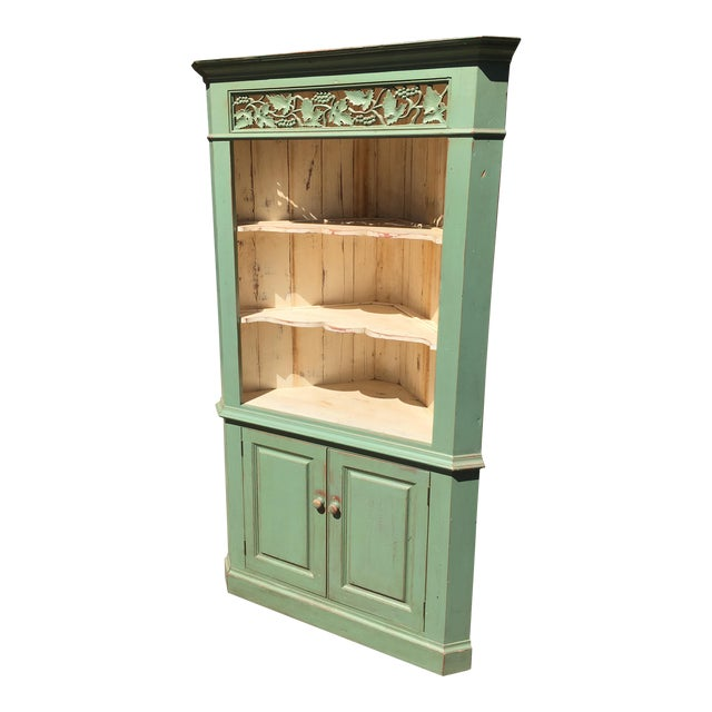 Green Reclaimed Farmhouse Hutch - Image 1 of 7