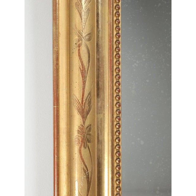 Antique French Louis Philippe Mirror Original Gilding For Sale - Image 11 of 12