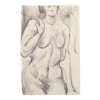 1990s James Bone Female Nude Drawing For Sale