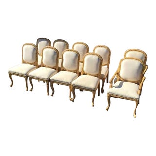 Kreiss Luxury Designer Dining Chairs - Set of 10 For Sale