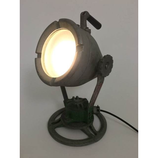 Industrial spotlight. Rewired. In great working order. Fully adjustable.