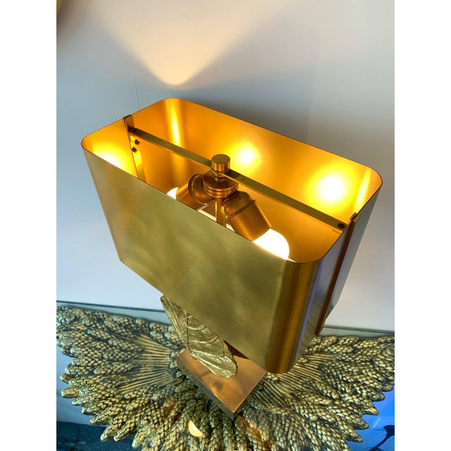 Gold Pair of Lamps Guadeloupe by Maison Charles, Bronze, 1970s, France For Sale - Image 8 of 13