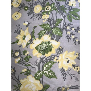 Thibaut Nemour Floral Cotton / Linen Blend Fabric - 17 Yards For Sale