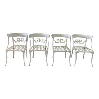 Hollywood Regency Klismos Style Garden Chairs- Set of 4 For Sale