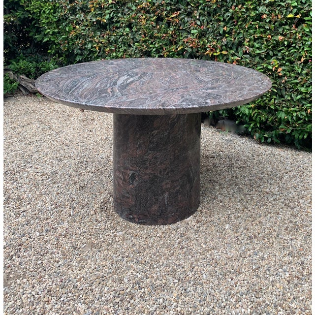 Mid 20th Century Mid 20th Century Granite Dining Center Table For Sale - Image 5 of 11