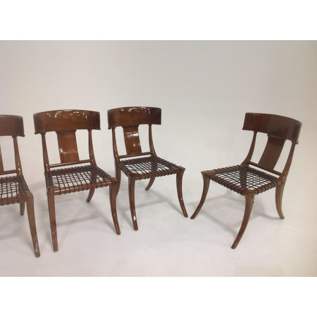 Mid-Century Klismos Style Dining Chairs - Set of 6 For Sale - Image 4 of 7