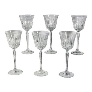 Mikasa Park Ave Wine Glasses Clear Blown Glass - Set of 6 For Sale