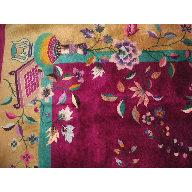 """1920s Chinese Art Deco Rug - 9'x11'8"""" For Sale In New York - Image 6 of 9"""