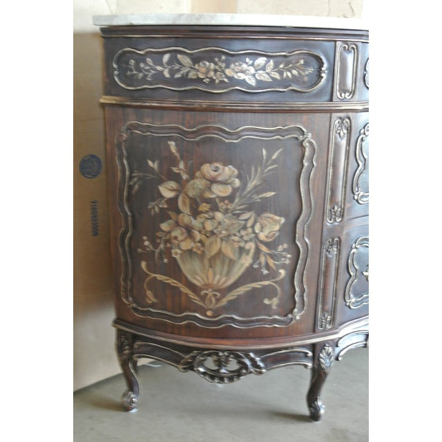 French Hand Decorated Commode For Sale In Chicago - Image 6 of 7