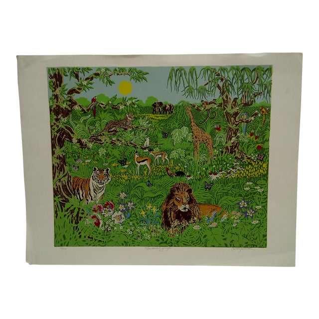 "Miriam Ecker Signed Numbered (123/275) ""Enchanted Jungle"" Print For Sale"