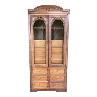 1960s French Provincial Thomasville Wardrobe Armoire Cabinet For Sale