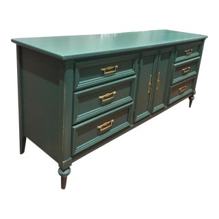 "White Fine Furniture ""Abbey"" Peacock Dresser With Gold Hardware"