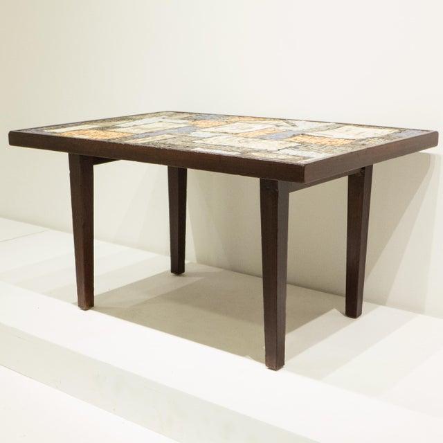 David Holleman Ceramic Mosaic Table - Image 5 of 10