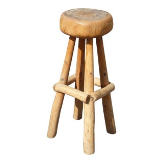 Farmhouse Wooden Bar Stool