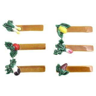 French Vegetable Knife Rests - Set of 6 For Sale