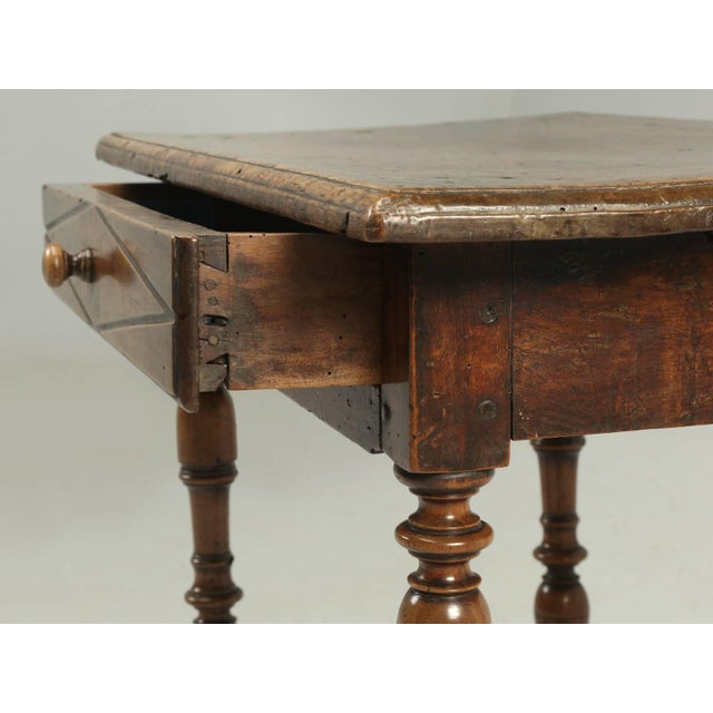 Late 18th Century Antique Country French Side or End Table From the Early 1700s For Sale - Image 5 of 10