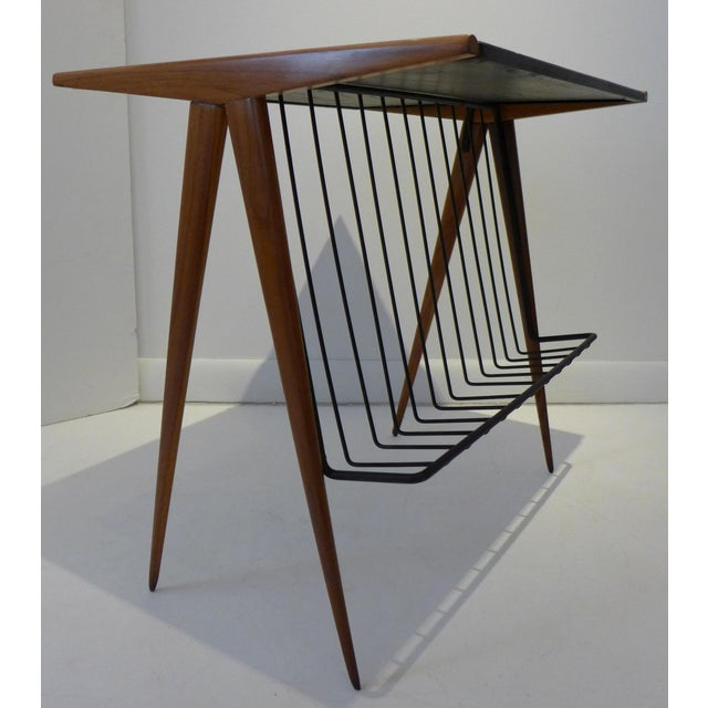 Mid-Century Modern Side Table with Magazine Rack by Arthur Umanoff For Sale - Image 3 of 9