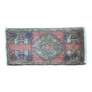 Vintage Turkish Door Mat-1′6″ × 3′3″ For Sale