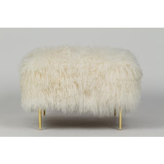 "Curly Mandy 20"" Ottoman Warm White Preview"