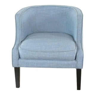 West Elm Upholstered Armchair For Sale